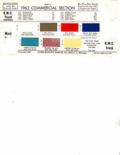1962 CHEVROLET GMC TRUCK WILLYS TRUCK MACK TRUCK 62 PAINT CHIPS 62ACME 6 17PC