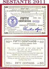 PHILIPPINES FILIPPINE 50 CENTAVOS MINDANAO emergency 1944 P S522b  FDS-/UNC- (2)