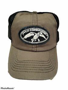 Duck Commander Adjustable Mesh Back Adult Trucker Cap Hat Olive/Black Distressed