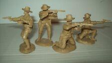 Four HTF Paragon Southwest Apache Wars Civilian, Cavalry Scouts, playset figures