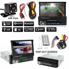 """1 DIN Single 7""""HD Touch Screen Car MP5 DVD Player Bluetooth Radio with Camera"""