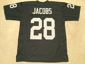 UNSIGNED CUSTOM Sewn Stitched Josh Jacobs Black Jersey - M, L, XL, 2XL