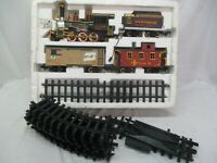 Vintage 1986 Gold Rush Express Toy Train Set and G Scale Tracks New Bright (JVB)