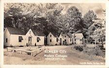 Missouri real photo postcard Kohler City Modern Cottages
