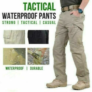Soldier Tactical Waterproof Pants Mens Cargo Pants Combat Hiking Outdoor 2021