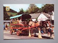 R&L Postcard: Shire Horse Bus Taxi, Polperro, Cornwall