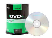 100x Intenso Rohlinge DVD-R 4,7 GB - 16x speed  in Cakebox