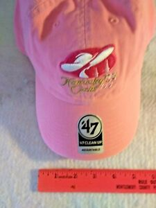 2018 Kentucky Derby 144 CAP / HAT PINK EVENT CAP With Adj in Back JUSTIFY TC