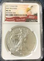 2017 Silver Eagle S$ First Releases NGC MS70 OBO