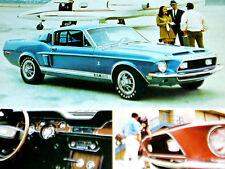 1968 SHELBY MUSTANG GT 500 ORIGINAL AD *Cobra/GT500/350/door/hood/bumper/emblem