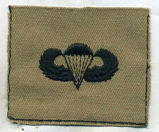 US Army Paratrooper Wing Badge Patch Black & Desert Tan