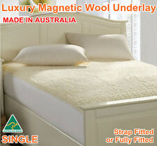 Aus Made Luxury Woollen Magnetic Wool Underlay/Underblanket-Strap or Fully Fit