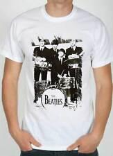 camiseta Beatles, Camiseta en blanco con diseño a efecto de lápiz blanco y negro