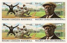 US 4465-4466 4466a Negro Leagues Baseball 44c block set (4 stamps) MNH 2010