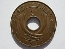 África oriental 1941 De Bronce De 5 Centavos, gvf Lustre.