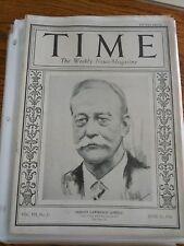 Time Magazine June 21, 1926 Abbott Lawrence Lowell