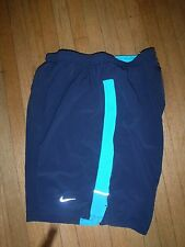 NIKE Running Mens Shorts SMALL DRI-FIT track 2 in 1 Compression 640135 TEMPO