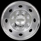 "1 16"" Stainless Steel Truck Van Trailer Dual Wheel Simulators Rim Hub Cap Covers"