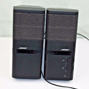 Bose MediaMate Computer Speakers Set Black Audio Equipment Aux (no adapter)