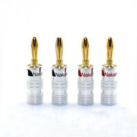 20pcs Nakamichi Speaker banana plug Audio Jack connector 24K Gold plated