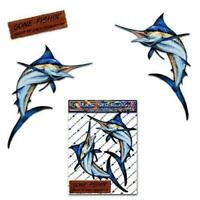 Marlin pesce spada piccoli adesivi per auto da pesca barche- ST00013TP_SML -...