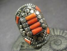 R09 TIBETAN Glass Tribal FASHION Ethnic Handmade Ring Size 9.25 Nepal Jewelry