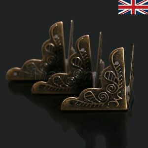 12pcs Antique Brass Corner Protector Guard For Gift Box Jewelry Case Hardware