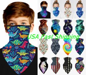 for Kids Face Mask Bandana Boys Girl Elastic Covering Neck Gaiter Scarf Reusable