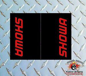 SHOWA BLACK Upper Fork Graphics Decals stickers suspension