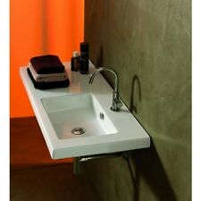 Tecla Teclaco02011-Threehole Co02011-Three Hole White Washbasin- Quality-Wall Mo