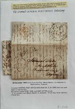 SA, Australian States, GB, 1845 entire ship letter from Fairfield Mount Barker