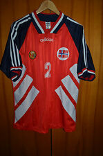 NORWAY TEAM 1992 PLAYER ISSUE NO MATCH WORN FOOTBALL SHIRT JERSEY ADIDAS #2
