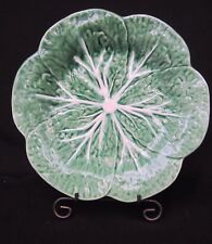 "Majolica 9.5"" Luncheon or Salad Plate Bordallo Pinheiro Green Leaf Cabbage 1 Pc."
