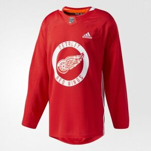 Adidas Detroit Red Wings NHL Climalite Authentic Practice Jersey Men's Size 46