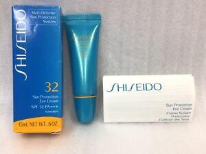 SHISEIDO 32 SUN PROTECTION EYE CREAM SPF 32 PA+++ Sunscreen 15ml. NEW IN BOX!
