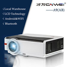 CAIWEI A9(AB) Android Wifi LCD Projector for Home Theater Bluetooth Movie 1080p