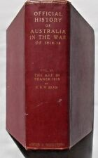 OFFICIAL HISTORY of AUSTRALIA in the WAR-Vol VI- AIF in France 1918- 1st 1942 HB