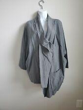 $475 NWT OSKA Women's Gray Jacke Graciela Asymmetric Jacket Size 2 Cotton Blend
