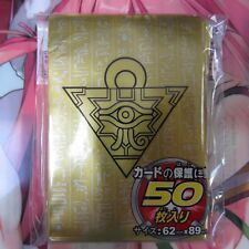 100 YUGIOH SMALL SIZE CARD SLEEVES DECK PROTECTOR - MILLENNIUM PUZZLE GOLD/BLACK