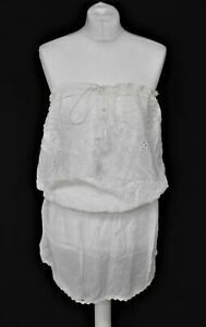 MELISSA ODABASH Ladies White Tie Fastening Sleeveless Mini Beach Dress Size M