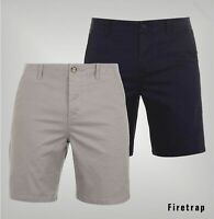 Mens Firetrap Soft Stretch Comfortable Chino Shorts Sizes Waist from 32 to 40