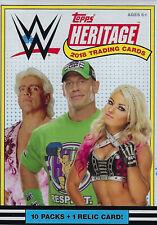 2018 Topps WWE Heritage WrestleMania Box with One GUARANTEED Relic Card Per Box