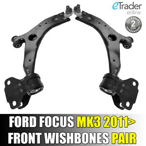 For FORD FOCUS MK3 FRONT WISHBONES WISHBONE PAIR 2011> SUSPENSION ARM ARMS x 2