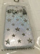 NWT Free People Holographic Star iPhone Case Understated Leather 6 Metal Gold