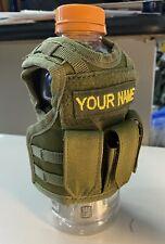 Mini Tactical Vest Koozie Includes Name And Mini Flag