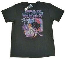 Star Wars Vader & Luke DISNEY Short Sleeve Youth Black T-Shirt NWT ! Size L