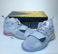 Nike PG 2.5 PlayStation Paul George PS4 Classic Wolf Grey Mens & Kids GS Gray