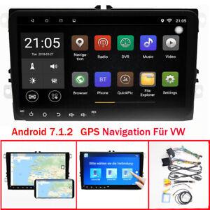 "9""Android 8.1 GPS Navi Autoradio USB BT Für VW Touran Eos Caddy Polo Passat Golf"
