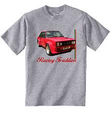 FIAT 131 MIRAFIORI ABARTH Ispirato-Nuovo T-Shirt grigio Cotone-Tutte le taglie in magazzino