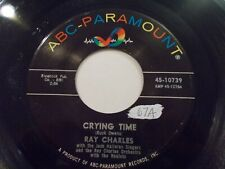 Ray Charles Crying Time / When My Dreamboat Comes Home 45 ABC Vinyl Record